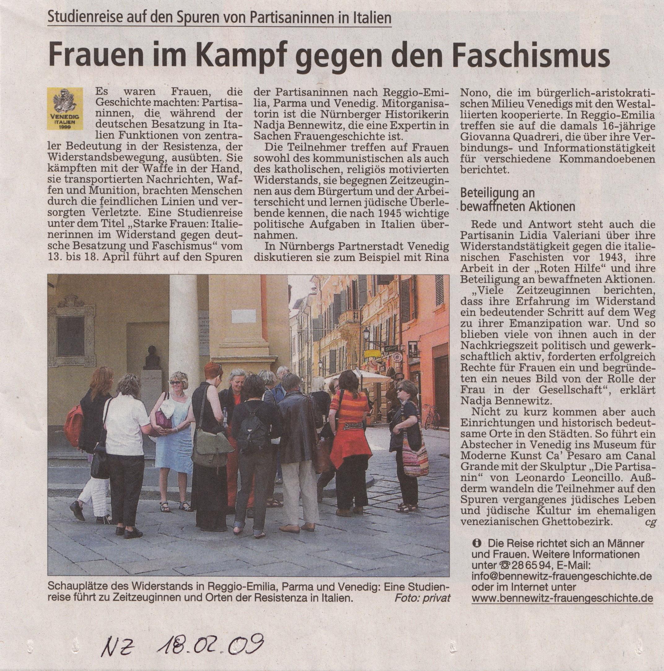 Frauen im Widerstand: Emilia Romagna und Veneto - bennewitz ...